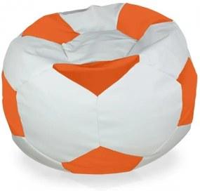 Sedací vak Futbal pomaranč - XL