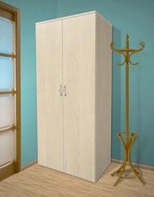 Nabytekmorava Šatníková skriňa do spálne Alfa 18 farba lamina: breza 1715