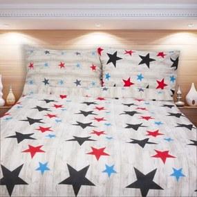 LERYN modrá hviezda 140 x 200 cm  bavlnené obliečky