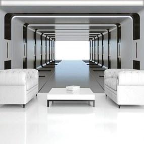 Fototapeta - 3D strieborný tunel (254x184 cm), 10 ďalších rozmerov