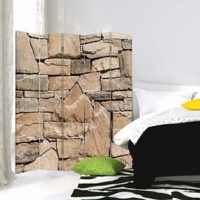 CARO Paraván - Sandstone Wall 1   päťdielny   obojstranný 180x150 cm