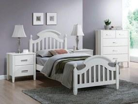 Eshopist Drevená posteľ LIZBONA 90 x 200 cm farba biela