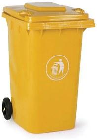 Plastová popolnica 240 litrov, žltá