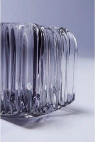 KARE DESIGN Sada 4 ks − Svietnik na čajovú sviečku Star Grey 8 cm
