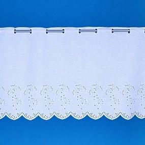 Goldea luxusná vyšívaná vitrážková záclona vzor 113260 - metráž 45 cm