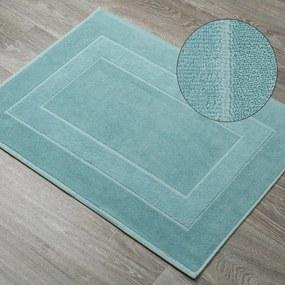 DomTextilu Vzorovaná bavlnená kúpeľňová predložka v mätovej farbe  50 x 70 cm 44532-208240 Zelená