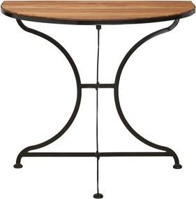 Butlers PARKLIFE Balkónový skladaci stolík - hnedá/čierna