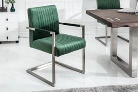 Konzolová stolička Boss, zelený zamat