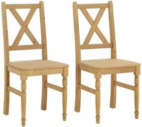 Sada 2 jedálenských stoličiek z masívneho borovicového dreva Støraa Normann