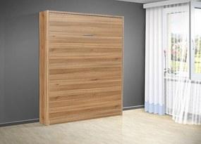 Nabytekmorava Sklápacia posteľ VS 3054 P - 200x90 cm nosnost postele: štandardná nosnosť, farba lamina: orech lyon 9614