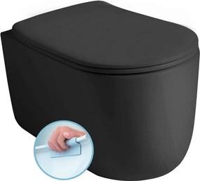 Nolita 531431 WC závesné NORIM 35x35x55 cm, čierne matné