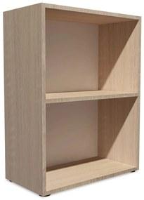 Regál na knihy z drevotriesky, 60x31x78 cm, dubová farba