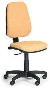 Pracovná stolička Comfort bez podrúčok žltá