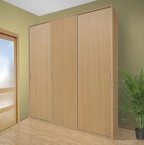 Šatníková skriňa s posuvnými dverami Alfa 28 farba lamina: buk 381