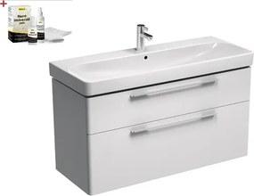 Kúpeľňová skrinka s umývadlom Kolo Kolo 120x71 cm biela lesk SIKONKOT1120BL
