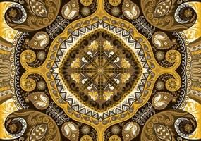 Fototapeta - Žltá mozaika (152,5x104 cm), 10 ďalších rozmerov