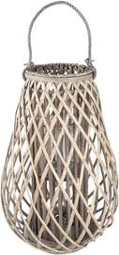 Drevená lucerna Antonella - Ø 38 * 60 cm