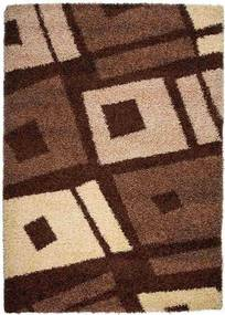 Kusový koberec Shaggy Biagio hnedý, Velikosti 190x270cm
