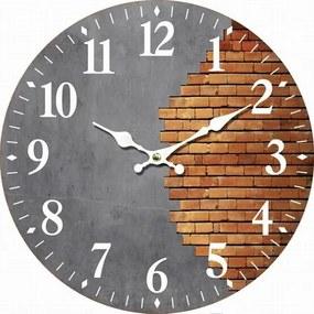 Drevené nástenné hodiny Halved wall, pr. 34 cm