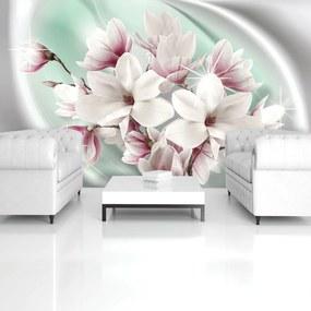 Fototapeta - Biele a ružové kvety (254x184 cm), 10 ďalších rozmerov