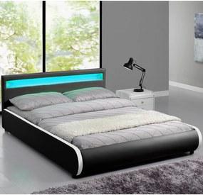 Čalúnená posteľ Sevilla 180 x 200 cm - čierna