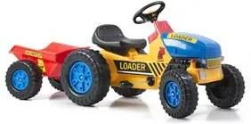 G21 Šliapací traktor Classic s vlečkou žlto / modrý