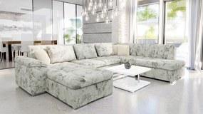 Luxusná sedacia súprava Kaniko, kvetinový vzor Roh: Orientace rohu Levý roh