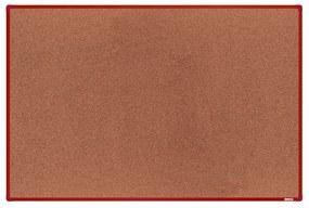 Korková nástenka boardOK v hliníkovom ráme, 180 x 120 cm, červený rám