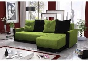 Elegantná sedacia súprava s opierkami LEONARD BIS, zelená + čierna