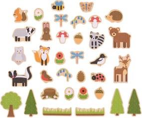 Bigjigs Drevené magnetky lesné zvieratká