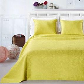 Prikrývka na posteľ DecoKing Elodie celadonová + obliečky na vankúše