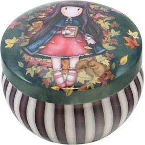 Santoro London - Okrúhla Dekoratívna škatuľka - Gorjuss - Autumn Leaves
