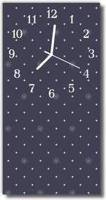 Sklenené hodiny vertikálne  Umelecký vzor čierny