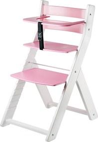 Wood Partner Detská rastúca stolička LUCA - ružová