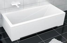 Obdélníková vana PMD BESCO MODERN 130x70 cm bílá