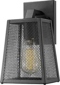 ACA DECOR Vonkajšie nástenné retro svietidlo Lantern Nyx 2 Black IP44