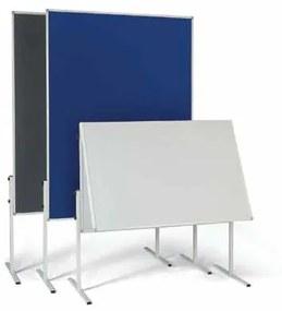 informačná a moderačná tabuľa, textilný, modrá, nesklopný