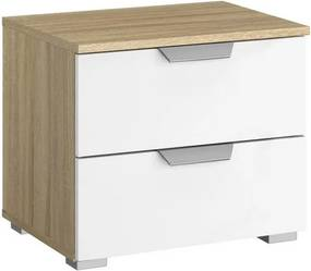 Nočný stolík Aditio, dub sonoma/biela