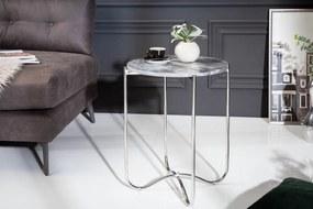 Dizajnový odkladací stolík Tristen III 43 cm mramor sivý