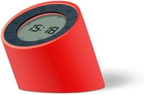 Červený budík s LED displejom Gingko Edge