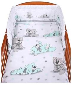 NEW BABY Nezaradené 2-dielne posteľné obliečky New Baby 100/135 cm sivý medvedík Sivá  