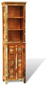 vidaXL Skrinka na knihy z recyklovaného pevného dreva, štýl vintáž