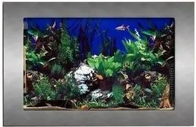 PROMOTEUS závesné akvárium 100x55x11cm šedá matná 30 l