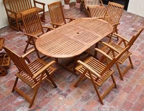 Jurhan VANAMO Záhradná sedacia zostava z dreva 7 ks