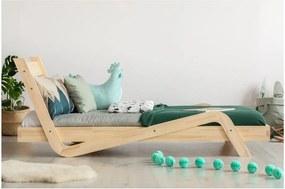Detská posteľ z borovicového dreva Adeko Zigzag, 100 × 200 cm