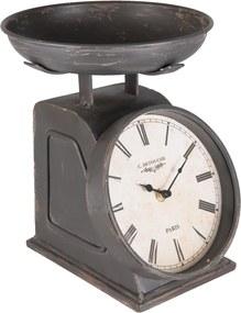 Kovové stolové retro hodiny Detouche - 21*23*26 cm