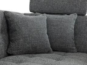 Luxusní sedací souprava do U Paramo, šedá   Roh: Orientace rohu Levý roh
