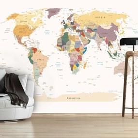 Fototapeta - Mapa sveta 200x140 + zadarmo lepidlo