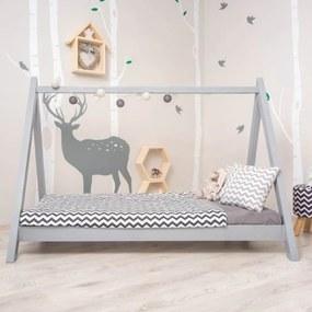 Montessori postel, borovicové dřevo, šedá, GROSI 0000235833 Tempo Kondela