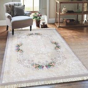 DomTextilu Elegantný béžový koberec so strapcami 19709-135159